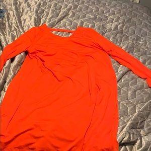 Eileen Fisher Orange Jersey Stretch Dress XL